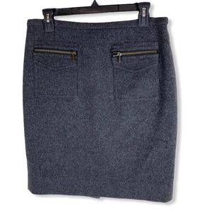"J Crew Wool Blend ""The Pencil Skirt"" with pockets"